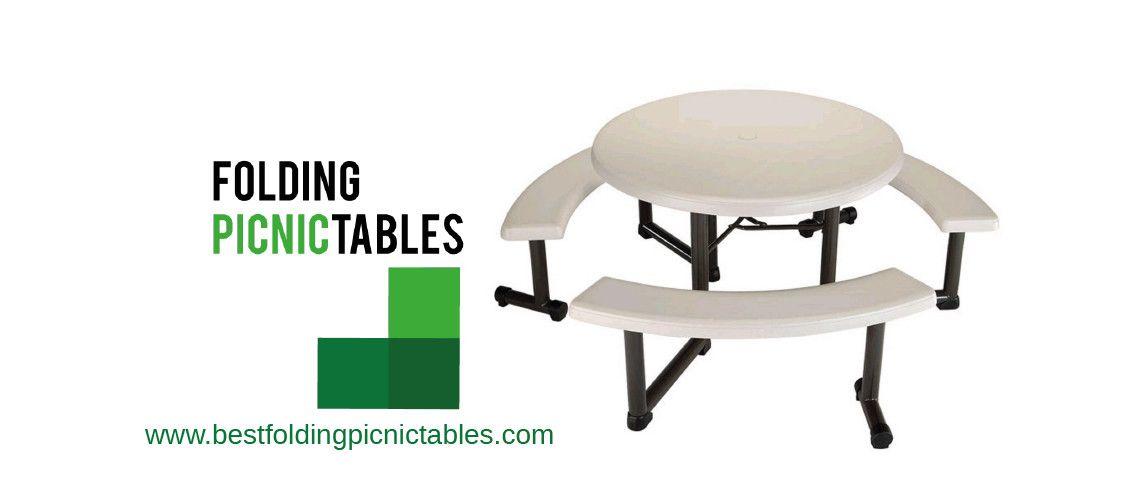 Folding Picnic Table, Lifetime Round Picnic Table