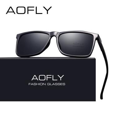 8728d29ca594 AOFLY BRAND DESIGN Classic Black Polarized Sunglasses Men Driving Sun  Glasses Male Vintage Shades Eyewear Oculos