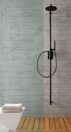 Les colonnes de douche associent mitigeur thermostatique douchette