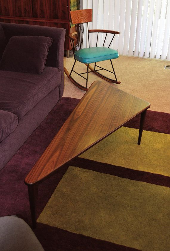 GEOTAP Triangle Coffee Table Mid Century Table Modern Table In - Mid century triangle coffee table