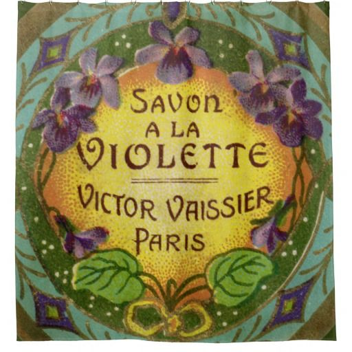 Dramatic Belle Epoch French Violet Perfume Shower Curtain Perfect For A Colorful Bohemian Bathroom With Jewel Toned Blue And Green Bright Yellow Center