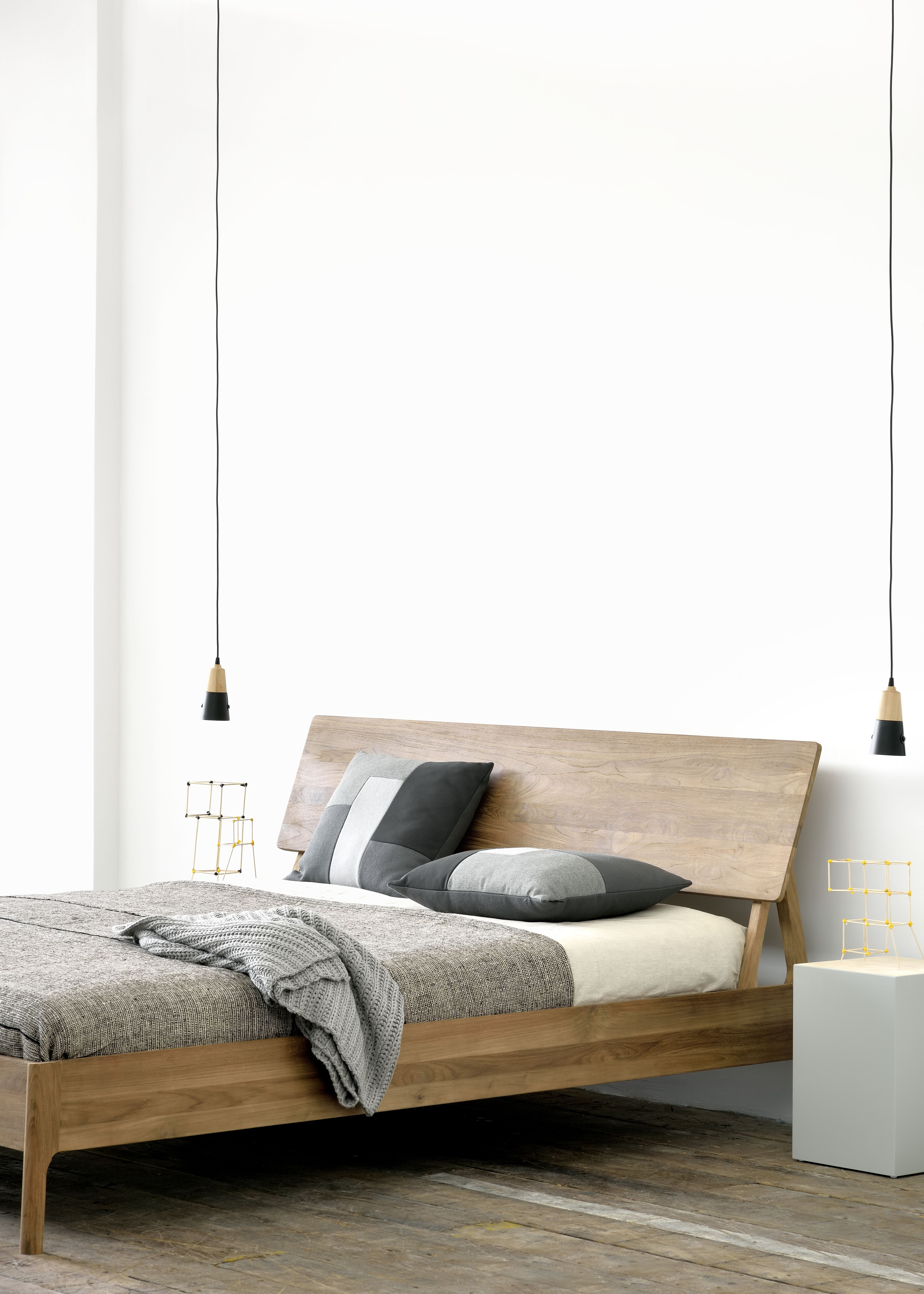 Furniture Design Double Bed walnut double bed walnut air bed - ethnicraft | interiors