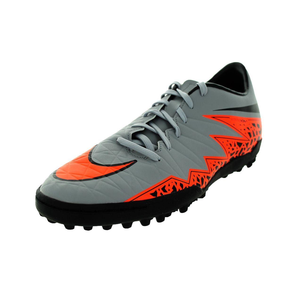 Nike Men S Hypervenom Phelon Ii Tf Wolf Grey Total Orange Black Black Turf Soccer Shoe Nike Men Soccer Shoes Wrestling Shoes