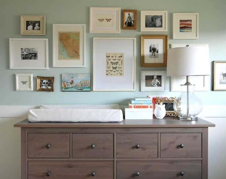 Source Our House Gorgeous Eclectic Nursery With Ikea Hemnes 8 Drawer Dresser In Gray Brown As Changing Table The Is Topped A Gl Lamp