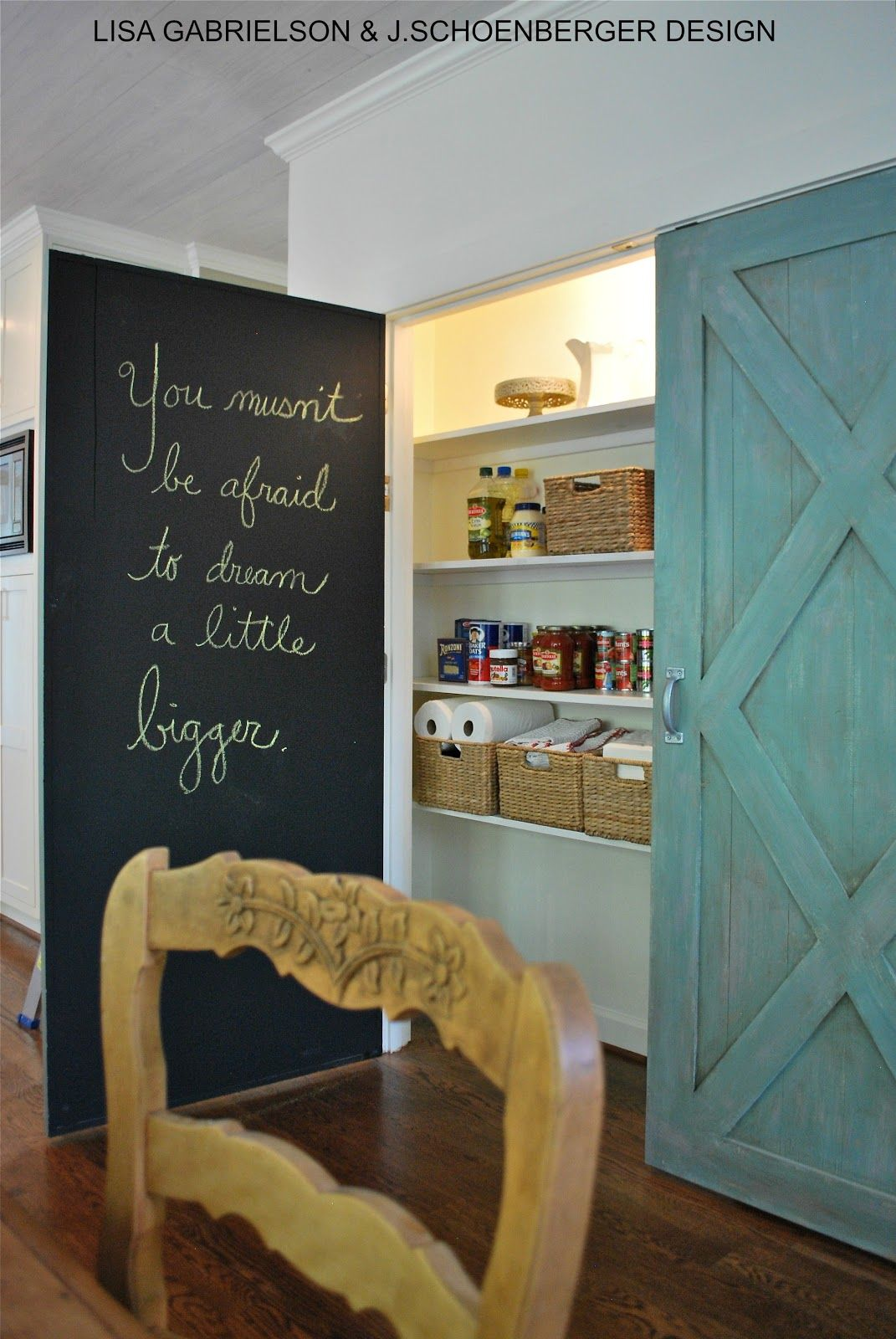 Pantry Barn Doors With Chalk Paint Treatment Galvanized