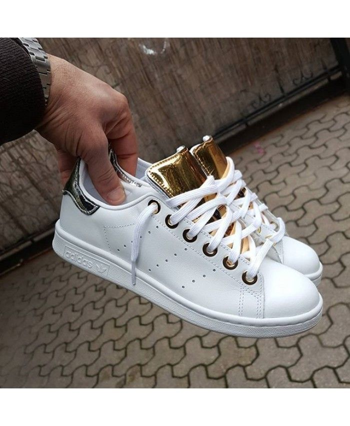 Adidas Stan Smith Paillette Rose Gold Blanc Golden is ...
