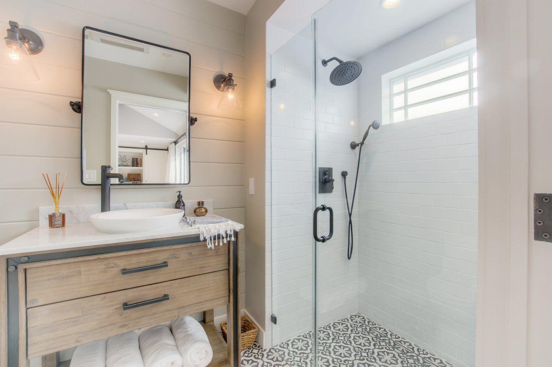 Modern Farmhouse Style Santa Monica Guesthouse Bathroom Bathroom - Bathroom remodel santa monica