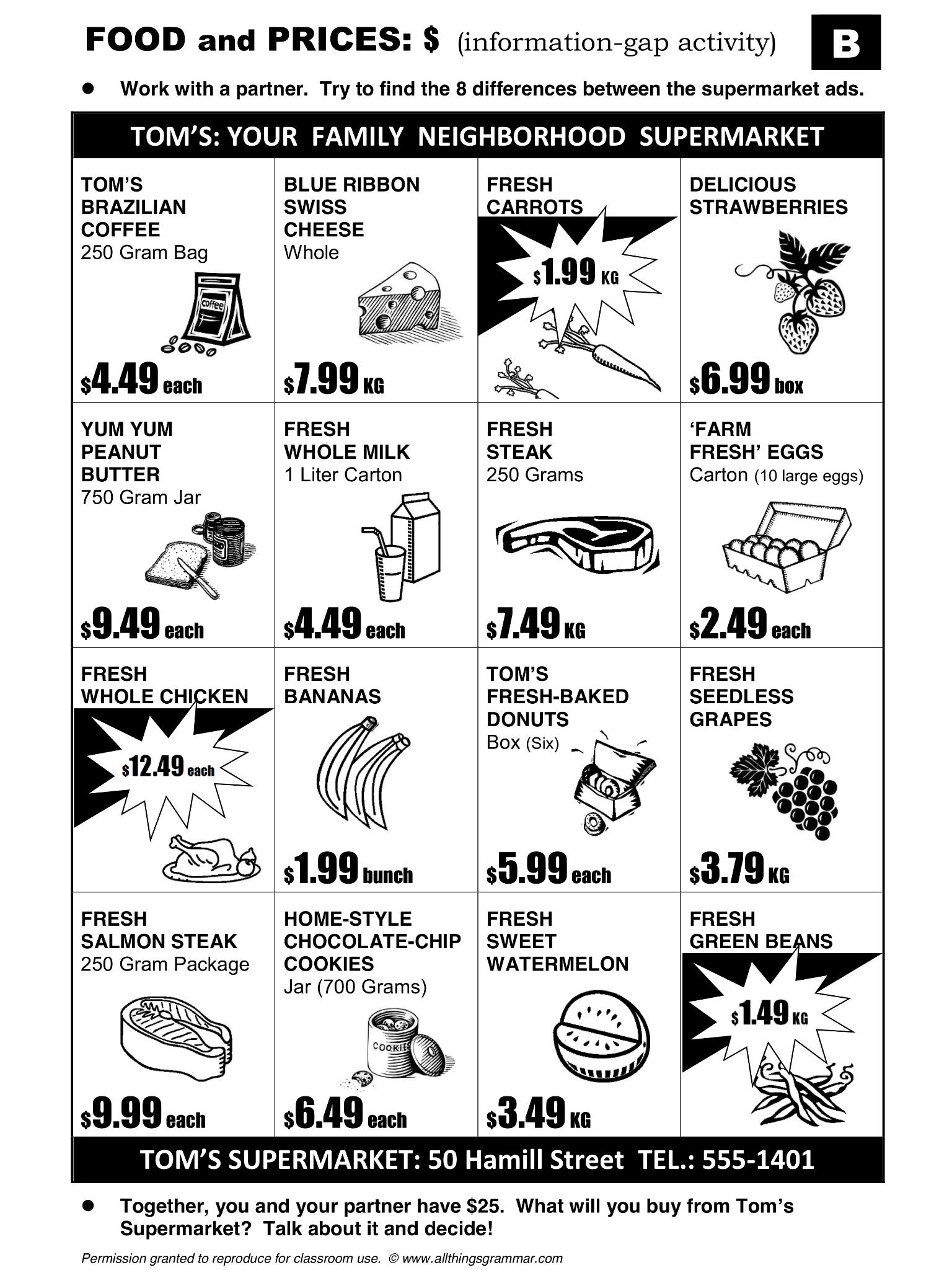 English Grammar Common Food Partitives