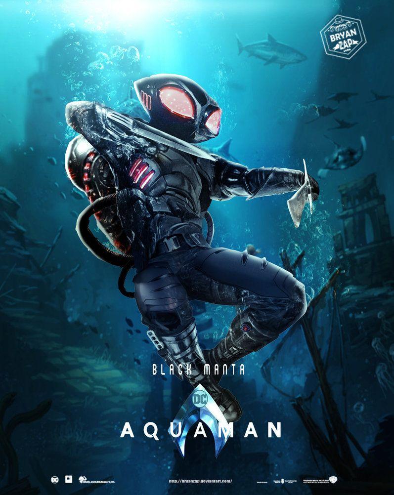 Aquaman Black Manta Poster By Https Www Deviantart Com Bryanzap On Deviantart Aquaman Black Manta Dc Comics Characters