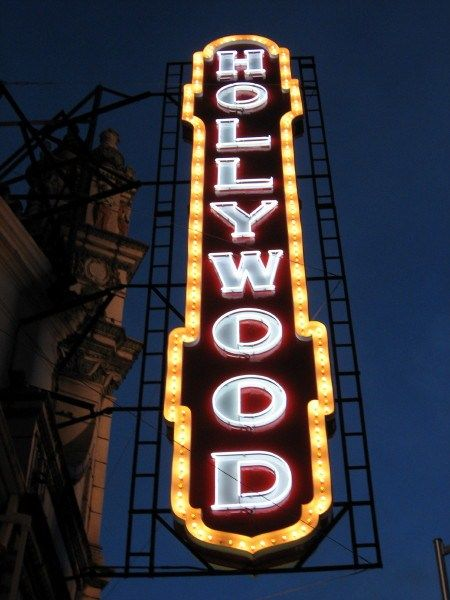 Hollywood Theater Theatre Sign Neon Signs