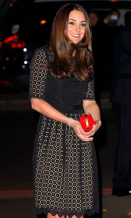 The stylish royal attended the 2013 SportsBall wearing a black laser-cut Temperley dress.