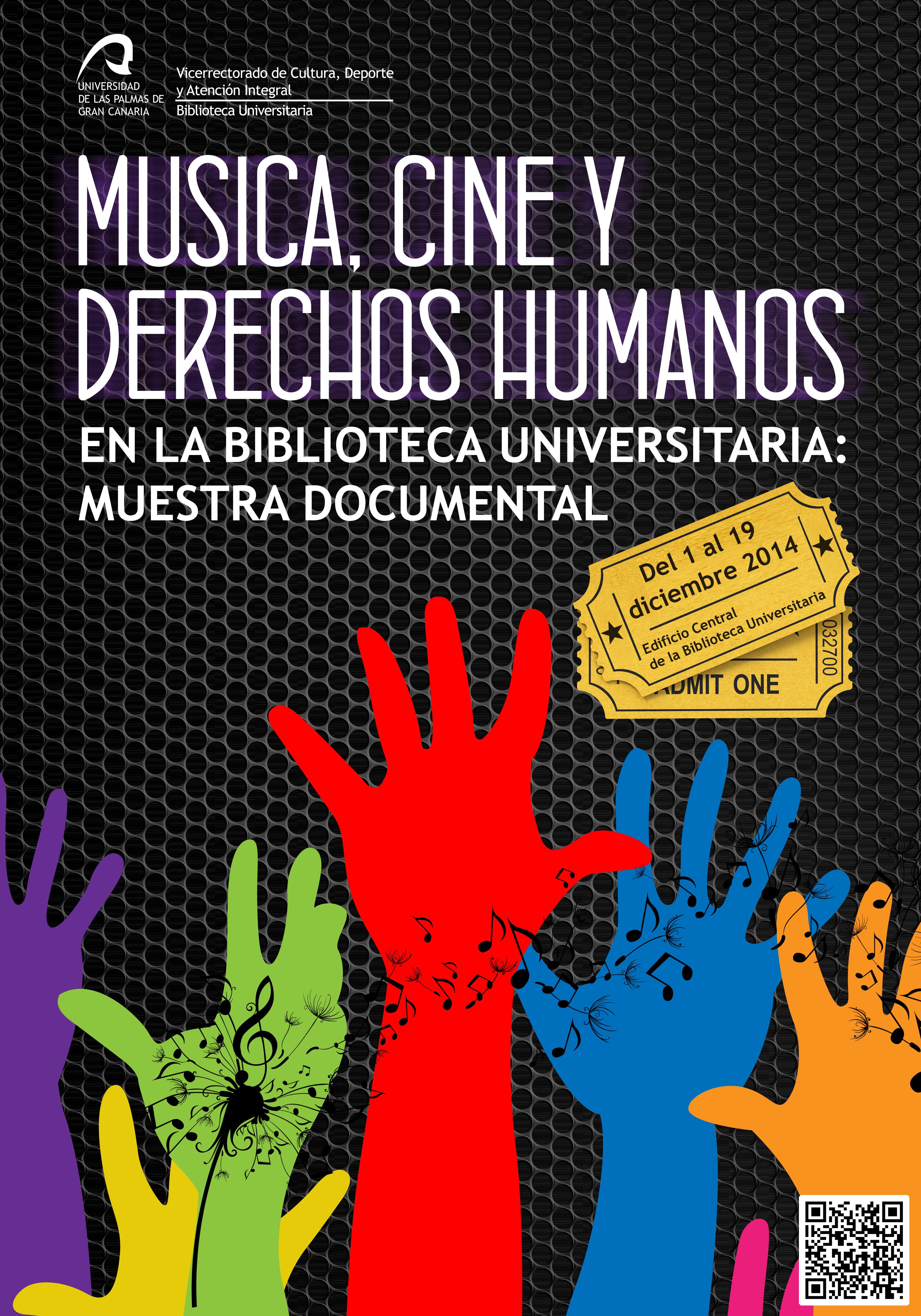 Cartel de la muestra documental Música, cine y Derechos Humanos en ...