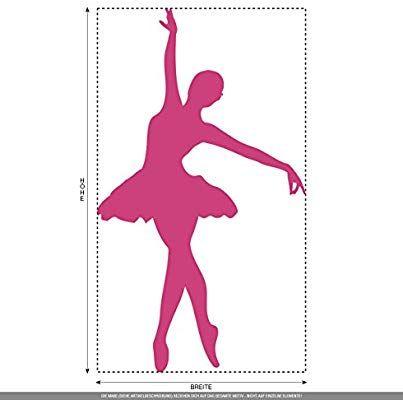 CLICKANDPRINT Aufkleber » Ballerina, 20x11,5cm, Schwarz