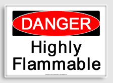 Free - Danger : highly flammable printable sign   Free