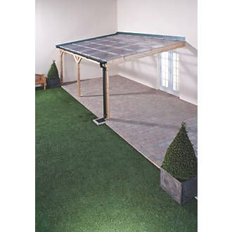 Order Online At Screwfix Com Pvc Sheeting For Roofing Suitable For Porches Car Ports Covered Walkways Splash Bar Pergola On The Roof Pergola Pergola Plans