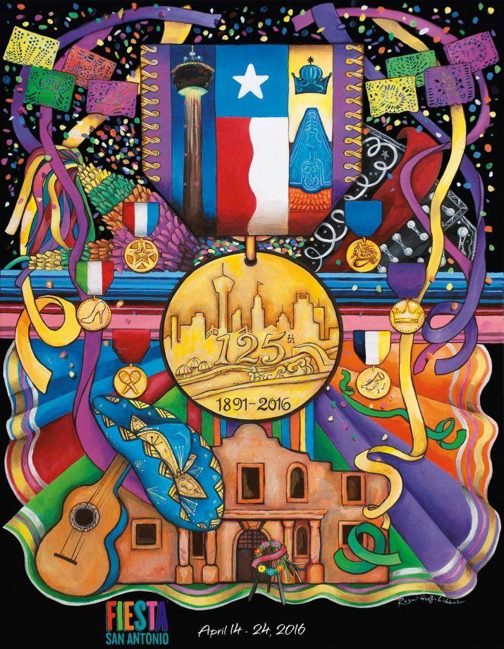 The 2016 Fiesta poster is unveiled San antonio, San