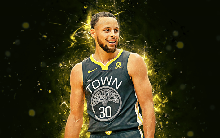Download Wallpapers Stephen Curry 4k Black Uniform Basketball Stars Nba Golden State Warriors Curry Basketball Abstract Art Neon Lights Creative Besth Stephen Curry Golden State Warriors Wallpaper Steph Curry Wallpapers