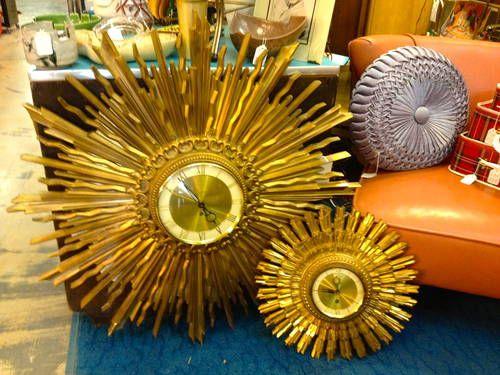 Syroco Gold Starburst Clocks 95 Vintage Home Decor