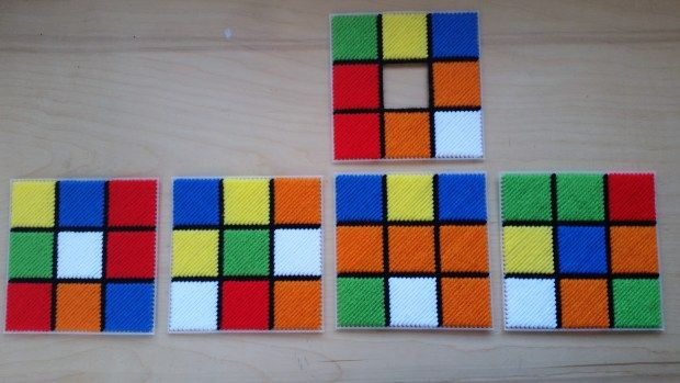Rubik\'s Cube plastic canvas pattern layout   Tissue box covers ...