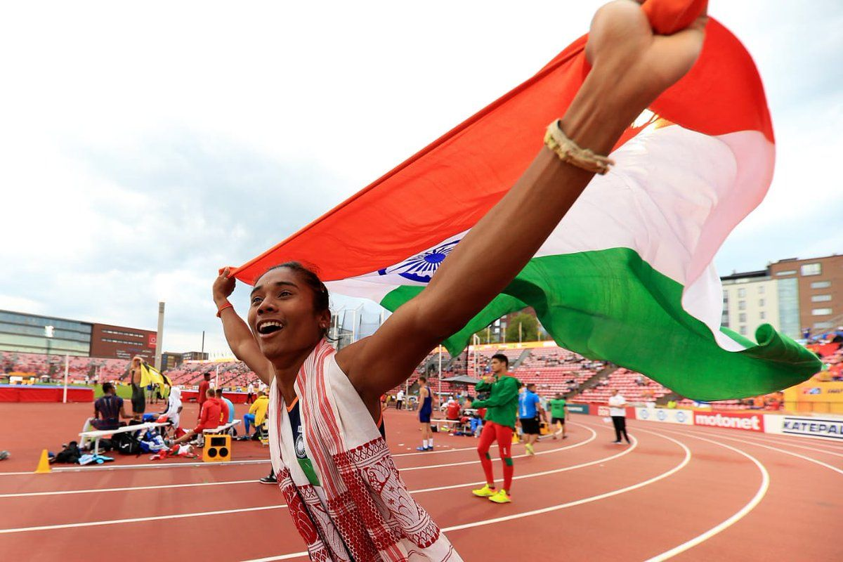 An Indian woman who achieved the gold medal in 400 meters
