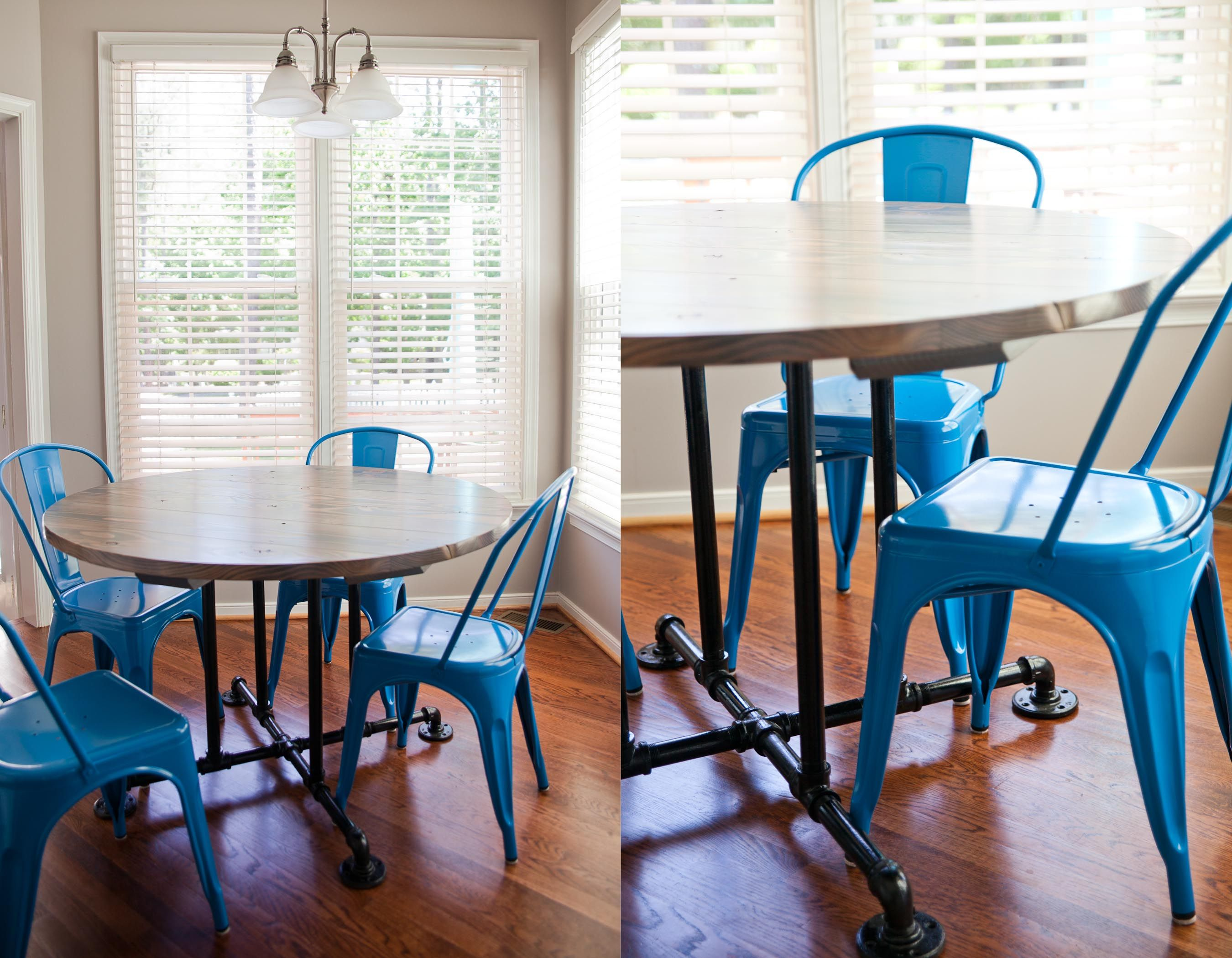 "16"" Farmhouse table style. Round Kitchen table or dining table by ..."