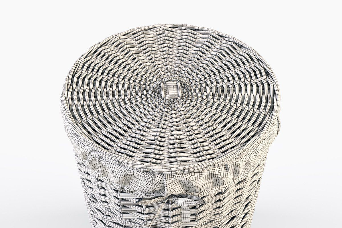 Wicker Laundry Basket 03 Purple Wicker Laundry Basket Wicker