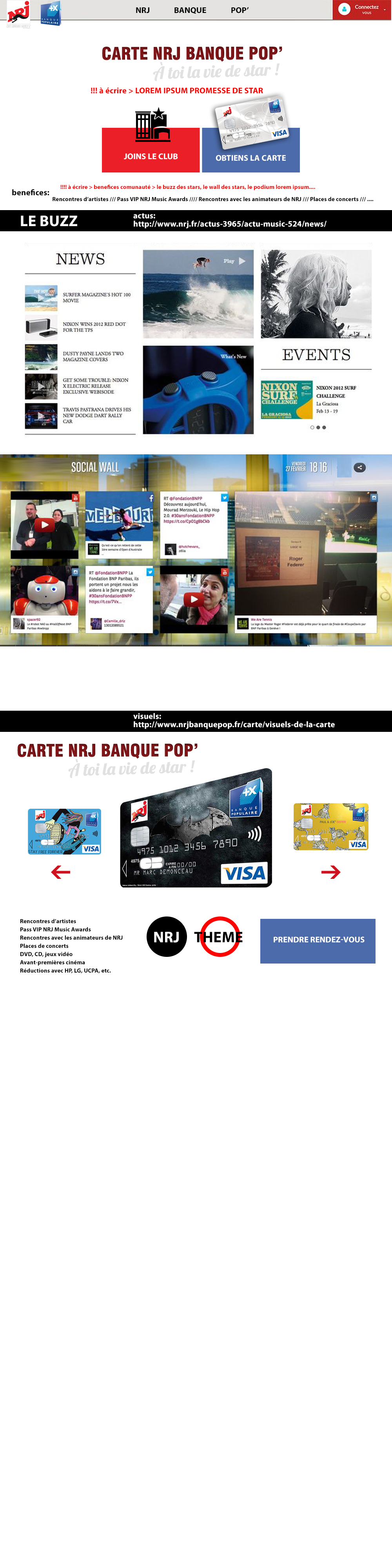 Nrj Banque Pop Pitch Web Design Webpage Layout Create Website