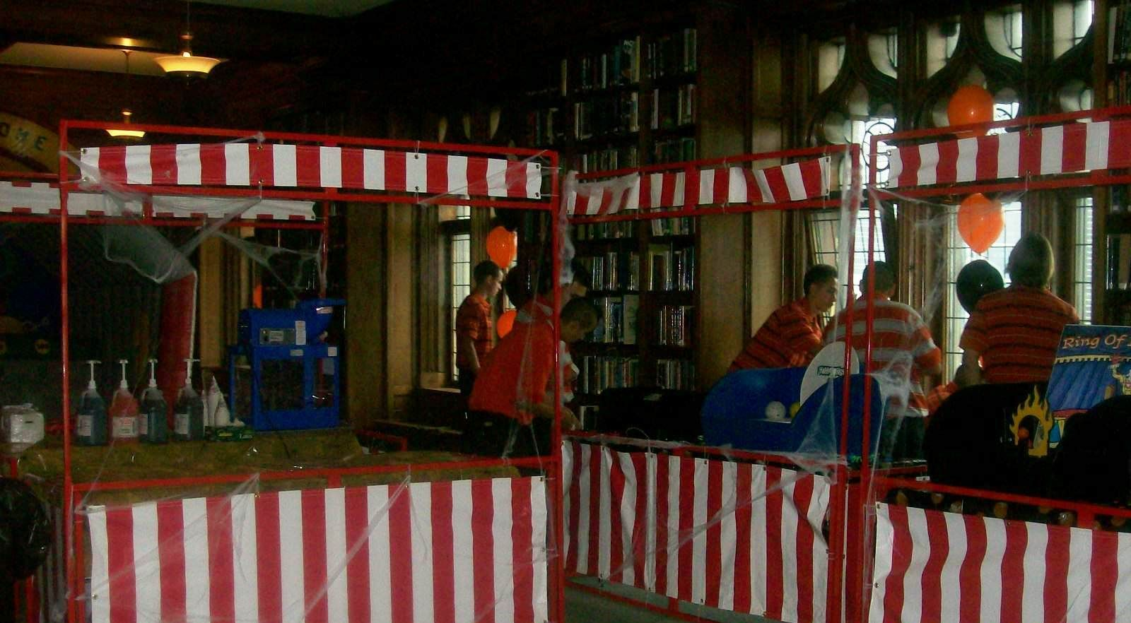 halloween party decoration booths and games chicago party rentals