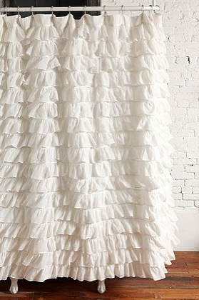 Waterfall Ruffle Shower Curtain   Urban Outfitters   A Backdrop Inspiration