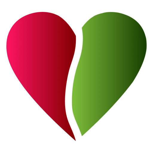 Heart Logo Half Red And Green Color Ad Affiliate Sponsored Logo Color Green Heart Heart Logo Green Colors Color
