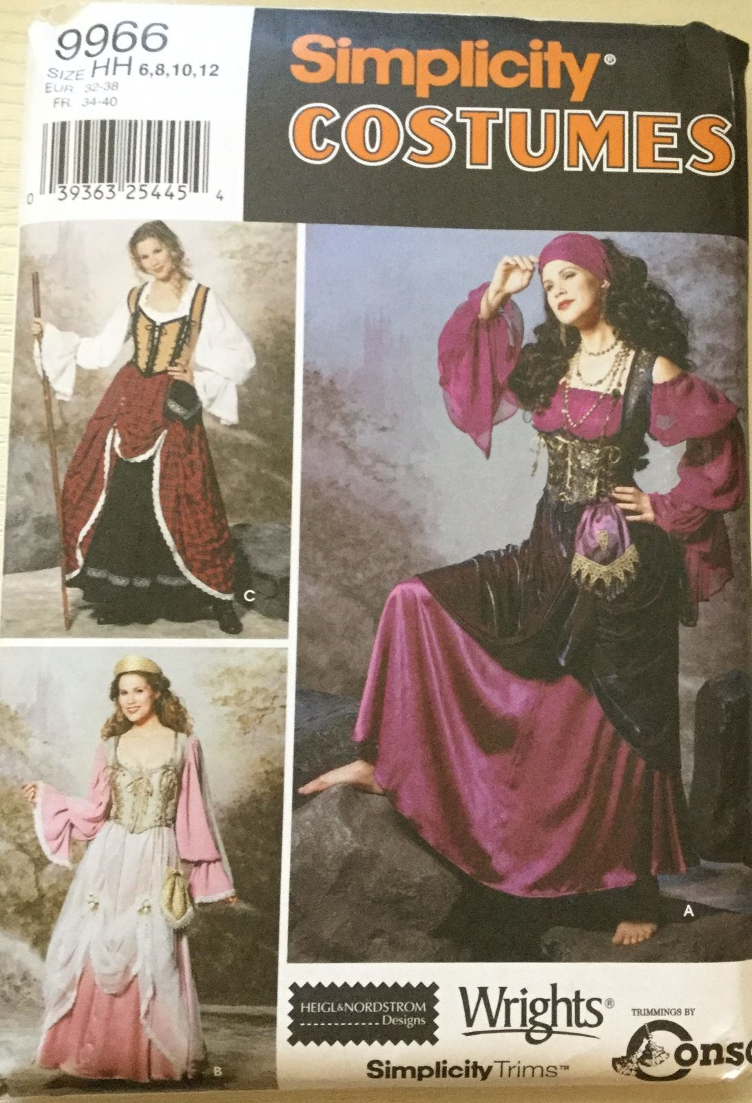 Simplicity 9966 Misses\' Gypsy or Peasant Gown Dress by Heigl ...