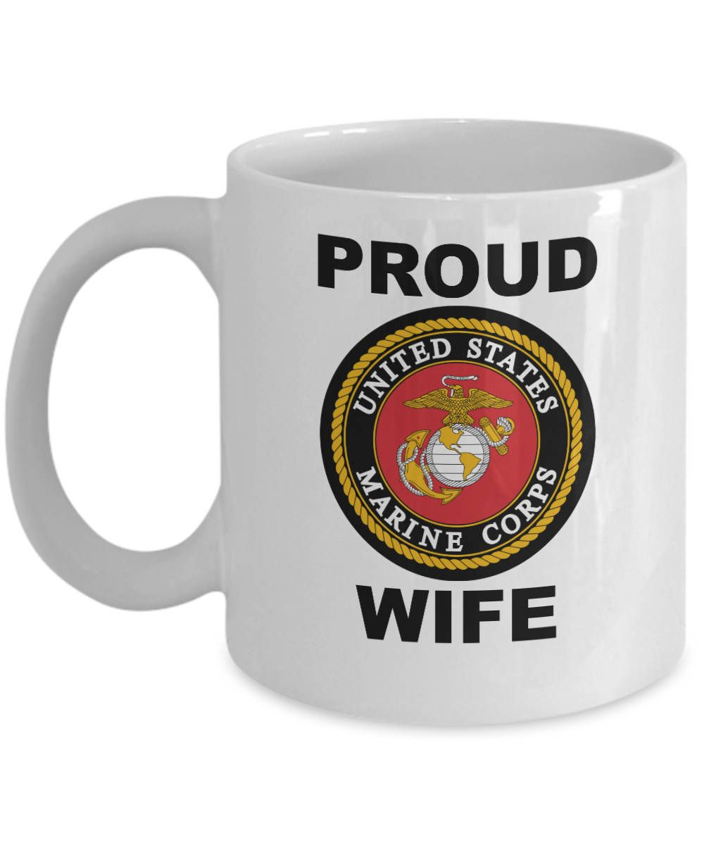 Marine Wife Mug USMC Military Marine Corps Coffee ment Cup