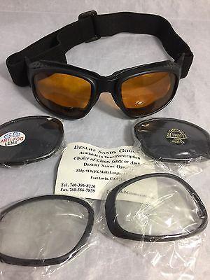 Desert Sands Goggles Elastic Strap 3 Interchange Lenses Carrying