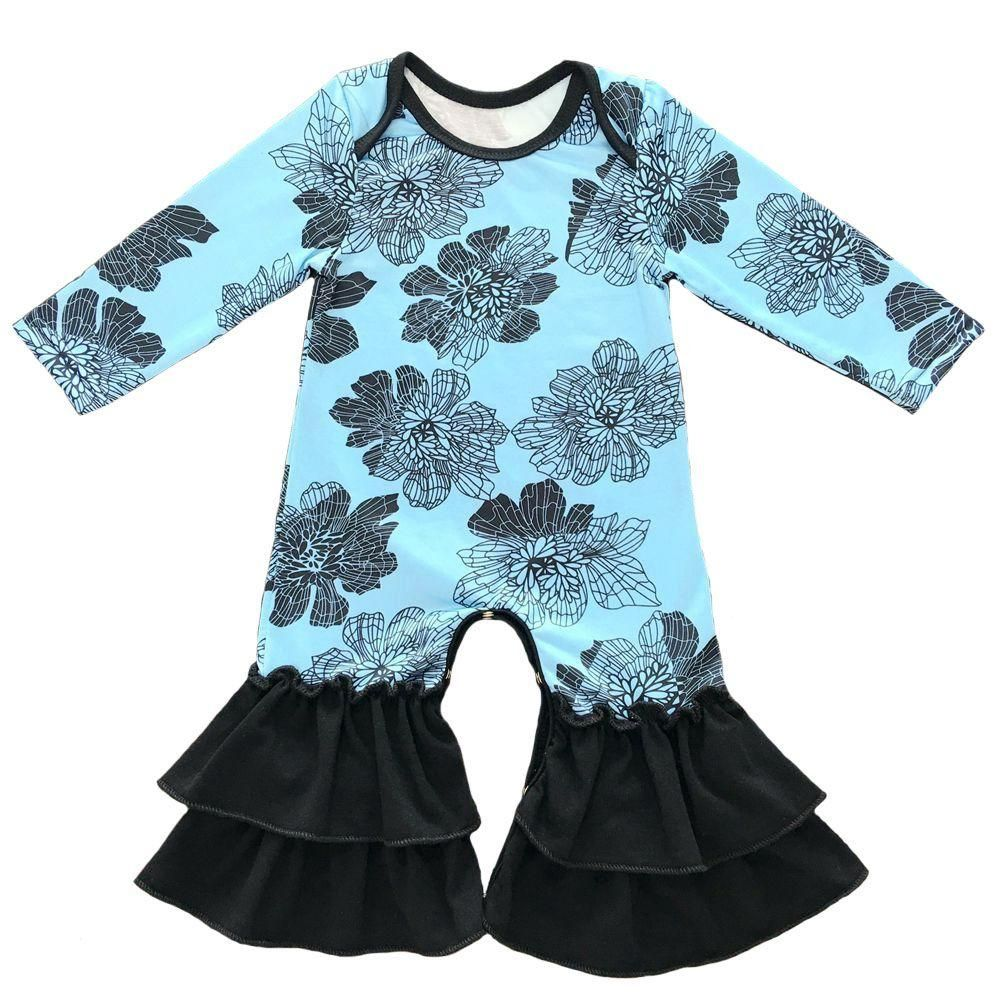 Newborn Baby Infant Girls Flutter Sleeve Icing Romper Night Gown Sleeping Suit