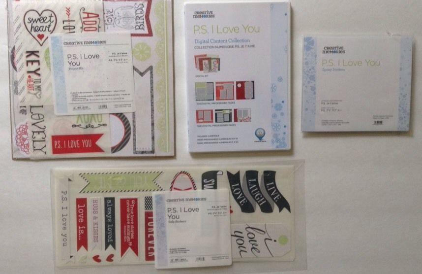 New Creative Memories P. S. I Love You Digital- Project Kit--Stickers #CreativeMemories