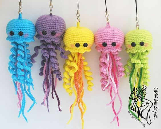 Happy Jellyfish Amigurumi Pattern Amigurumi Pinterest Häkeln