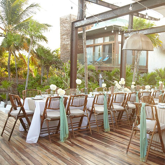 Casual Beach Wedding Reception Decoration Beach and Casual