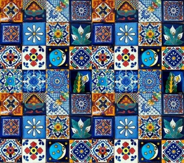 Mexique fa ence tavela tiles pinterest mexique for Miroir zellige