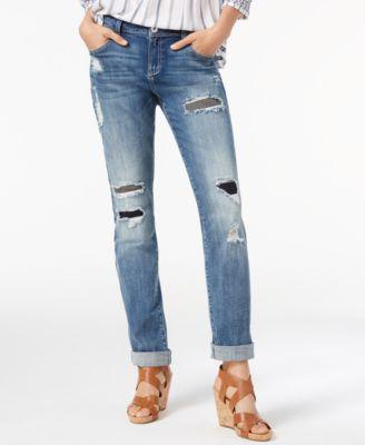 INC International Concepts Ripped Boyfriend Jeans