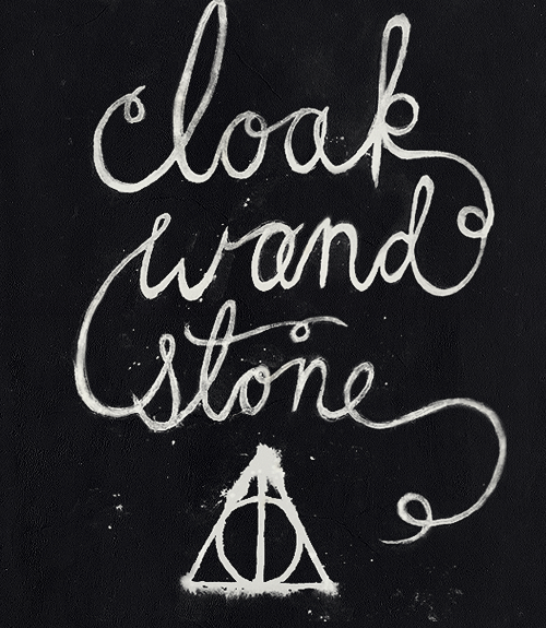 Cloak wand stone words in this world pinterest for The deathly hallows wand
