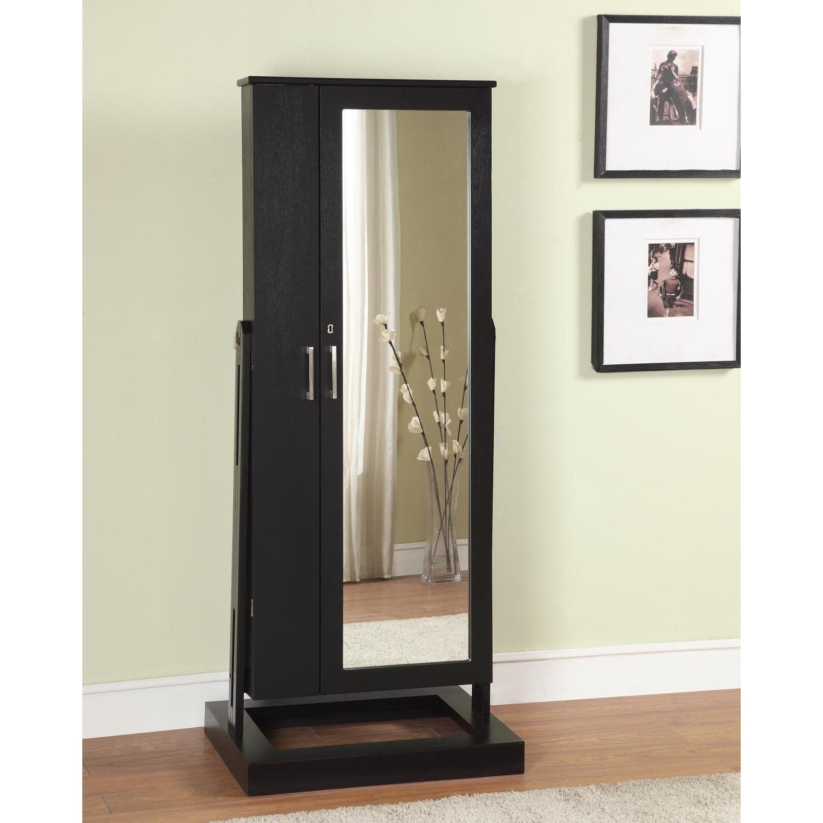 Jewelry Armoire Over The Door Mirror Cabinet Hsn Silver Jewelry