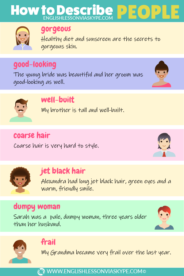 English Adjectives to Describe Physical Appearance