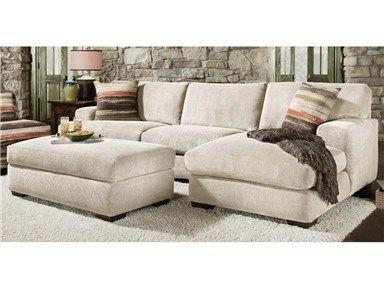 Shop For Corinthian Meade Cream Sectional With Ottoman, 022540, And Other  Living Room Sectionals At Furniture Fair In Cincinnati, OH And Northern KY.