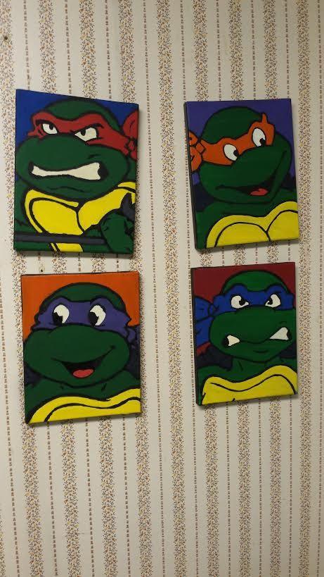 Age Mutant Ninja Turtle Wall Decor On Etsy 45 00