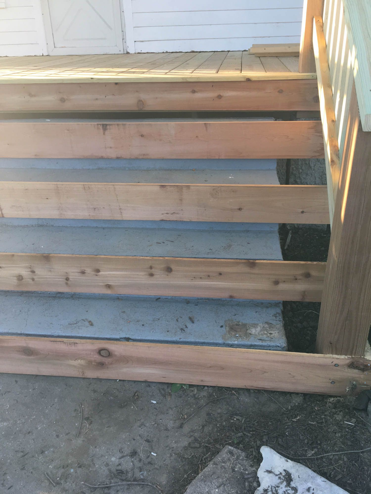 How To Cover Concrete Steps With Wood Front Porch Steps Concrete Front Steps Porch Steps