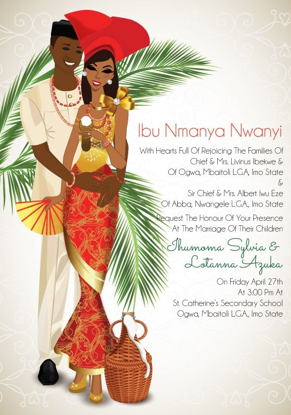Tomato Jos Mu Nigerian Igbo Traditional Wedding Invitation ...