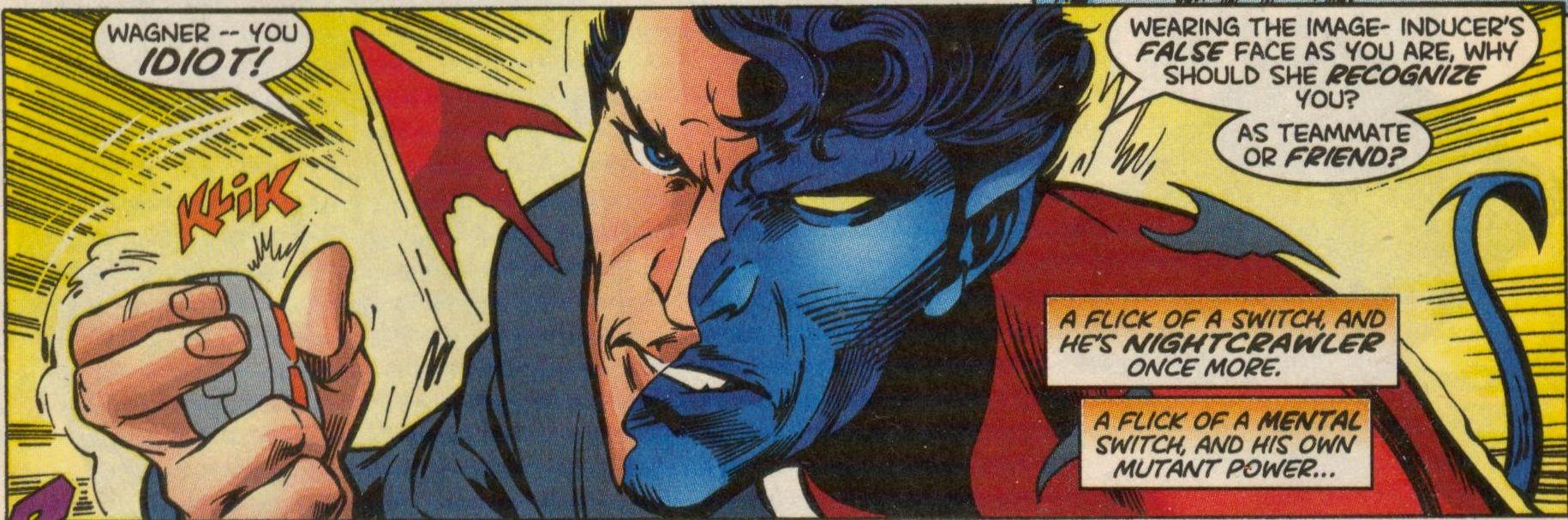Image Inducer From X Men 93 Oct 1999 Nightcrawler Nightcrawler X Men Splash Page