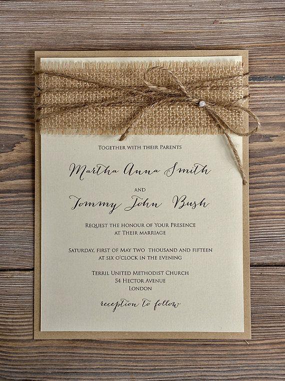 country wedding invites