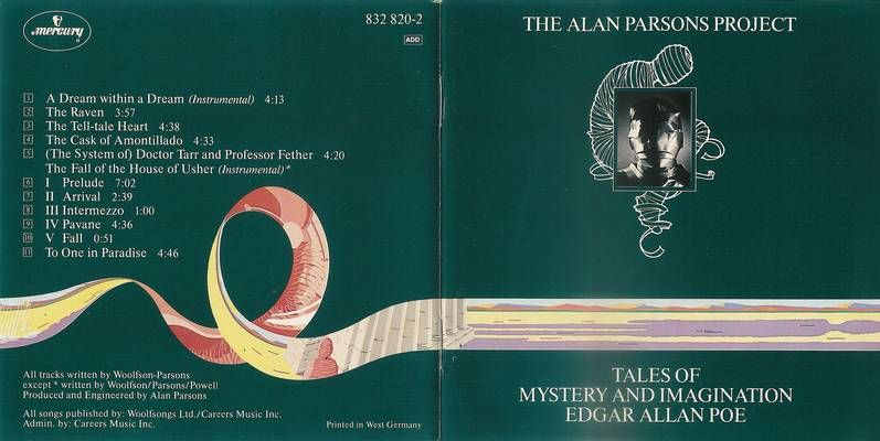 Alan Parsons Project Tales And Mystery And Imagination Of Edgar