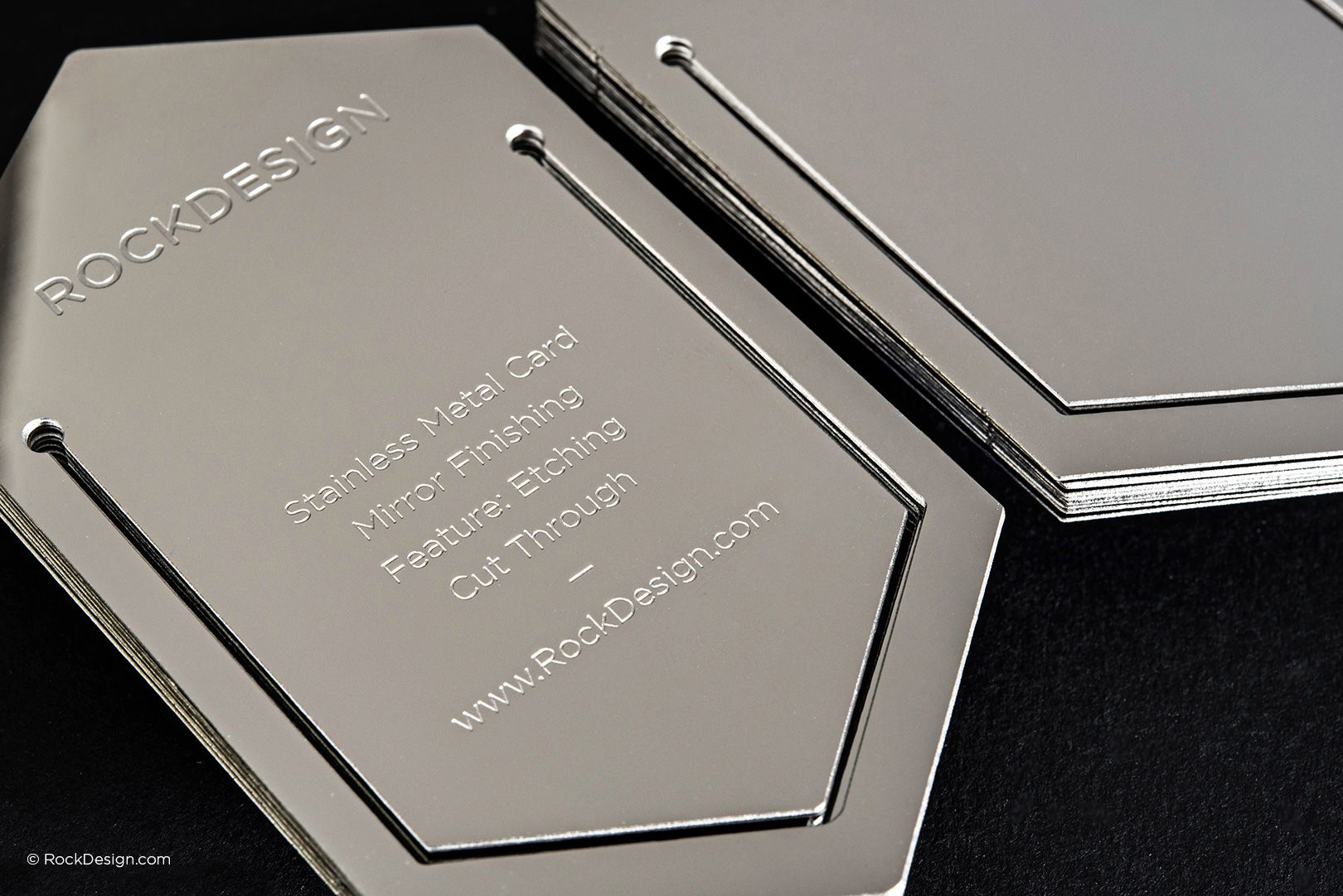 High end stainless steel bookmark business card - Rock Design ...